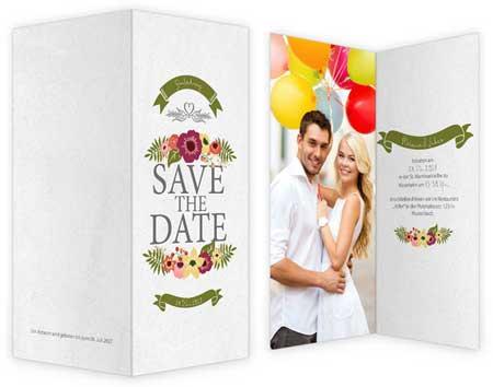 Hochzeitskarte Save the Date