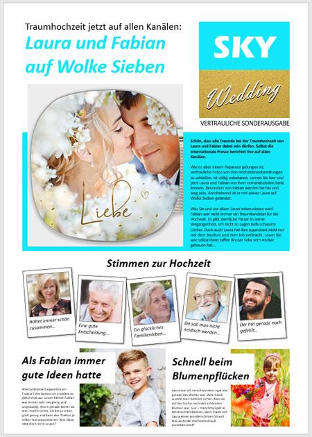 Hochzeitszeitung aus Powerpoint