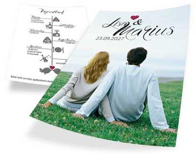 Karte Hochzeitseinladung A6