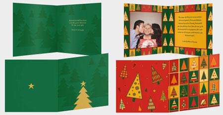 Klappkarten Weihnachtskarten