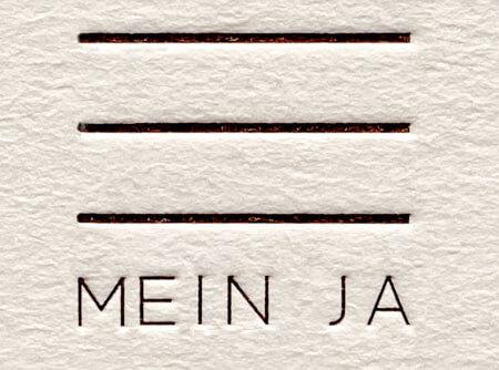 letterpress auf Holzschliffkarton