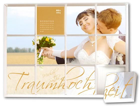 Mosaik-Fotokalender zum Kennenlern-Angebot