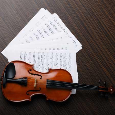 Notenblätter mit Violine, in allen Formaten online drucken