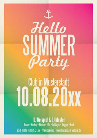Plakat Sommerparty