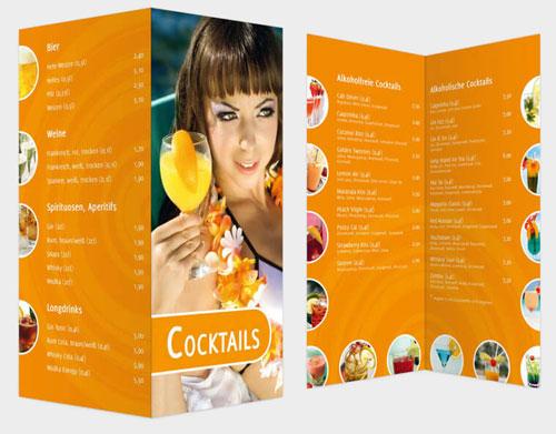 Vorlagen Cocktailkarte