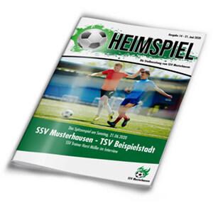 Stadionzeitung günstig online drucken auch kleine Auflagen