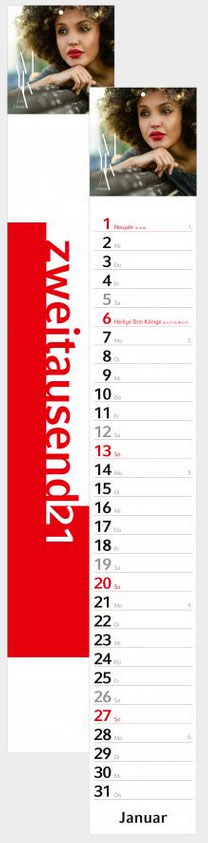 Premium-Streifenkalender