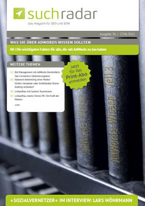 Online-SEO-Magazin suchradar als Printausgabe
