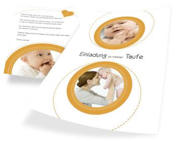 einladungskarten taufe » karten mit vorlagen online gestalten, Einladung