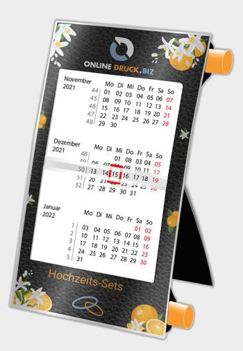 Tischdrehkalender Digitaldruck mit Werbung Hochzeits-Sets