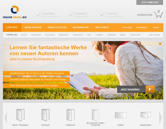 Online-Druck mit neuem Online-Shop