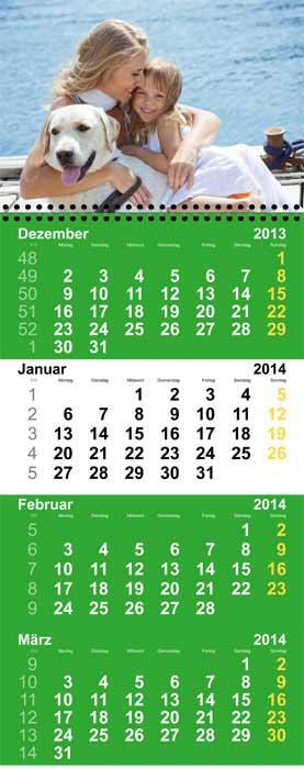 4-Monats-Fotokalender privat