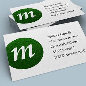 Visitenkarten hochwertig preiswert zweiseitig vierseitig mehrschichtig gehaemmert