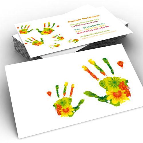 Tipaus der Werbepsychologie beim Drucken von Visitenkarten