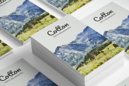Cotton Visitenkarten aus 100% Baumwolle