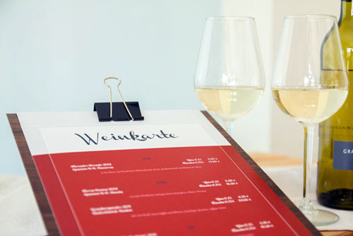 Weinkarte Klemmbrett