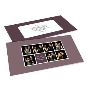 Diese Vorlage ( Einladung Karte DIN Lang Quer Hochzeitsset 8) Im  Online Gestalter