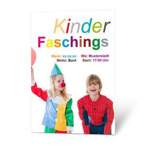 Lustiges Plakat Zum Kinderfasching Preiswert Erstellen