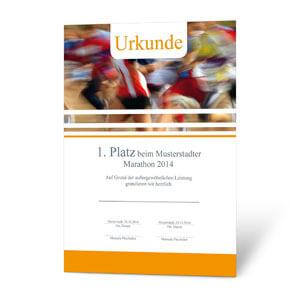 Urkunden Für Laufveranstaltungen Online Gestalten