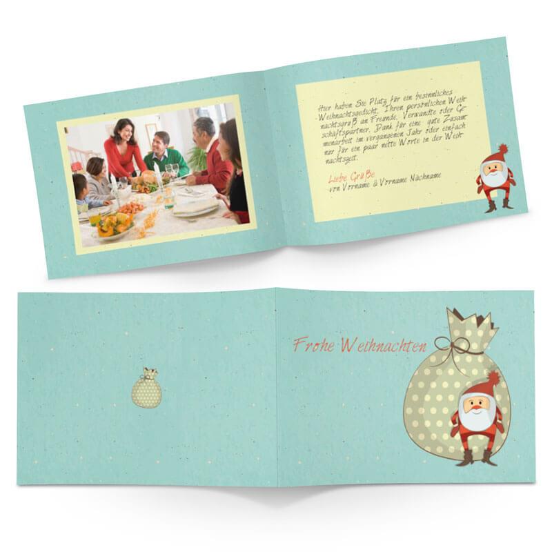 Weihnachtskarten Gestalten Günstig.Witzige Vorlage Für Private Weihnachtskarte Nutzen