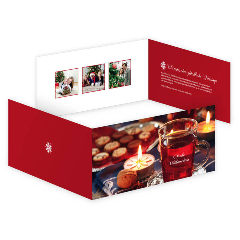 Weihnachtskarten Mit Duft.Glühwein Und Plätzchen Umrahmen Ihre Weihnachtsgrüße Auf Dieser