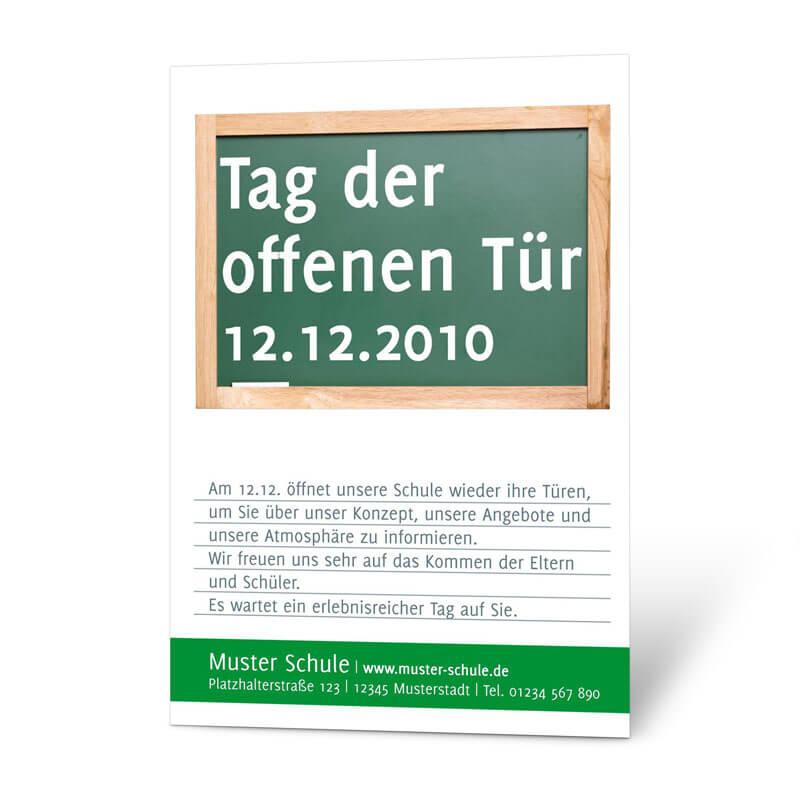 Klassisches Plakat für Schulen zum Tag der offenen Tür