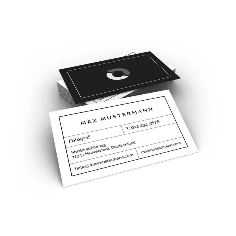 Visitenkarten Schwarz Weiß Online Bedrucken