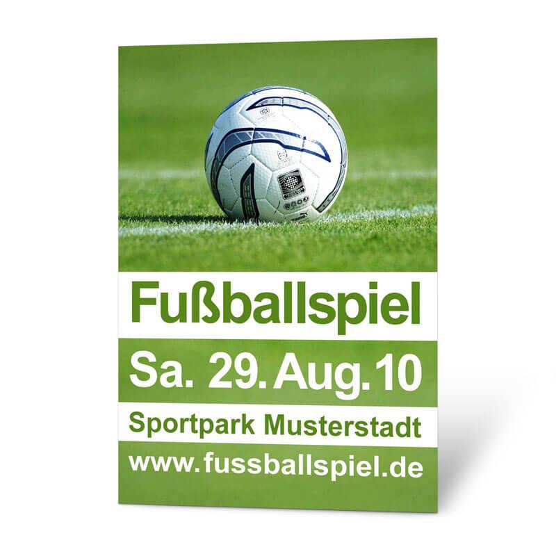 Fussballblakat In Grun Und Weiss Gestalten