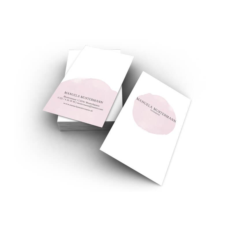 Visitenkarten Aquarell Rosa Online Erstellen