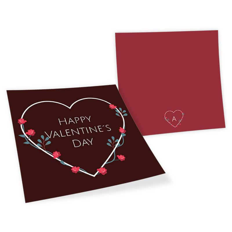 Valentinstag Karte Herz Blumen Kranz Online Erstellen