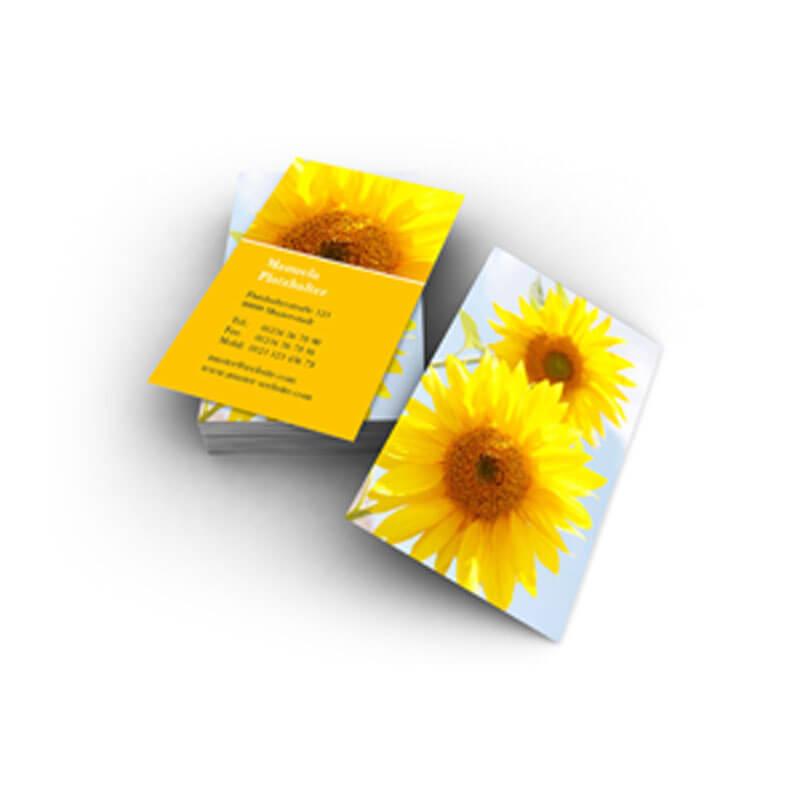Visitenkarten Mit Schönen Sonnenblumen Erstellen Und Günstig