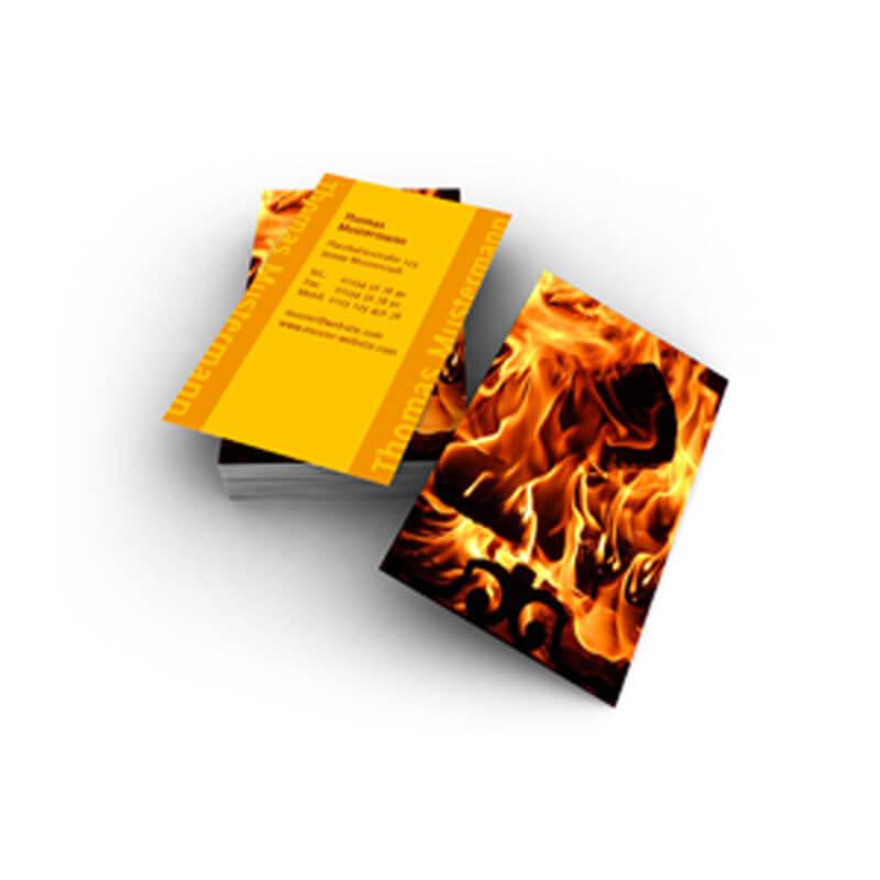 Visitenkarten Mit Feuer Ideal Für Brandschutz Und Feuerwehr