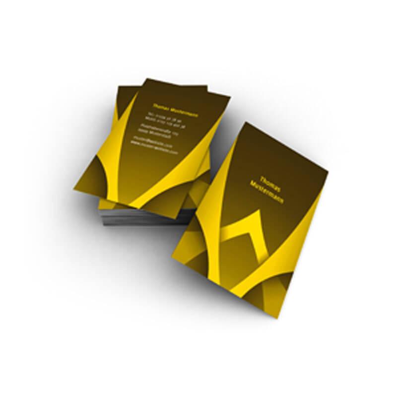 Visitenkarten In Gelb Schwarz Und Grafiken Nicht Nur Für