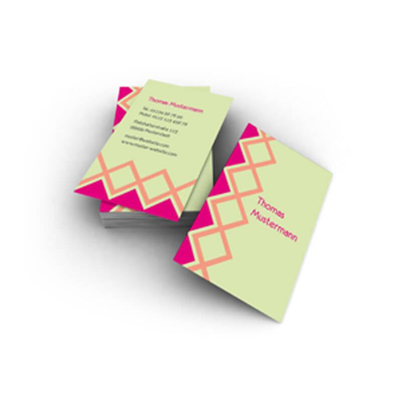 Visitenkarten Im Krasserem Farbkonstrast Trotzdem Fein Und
