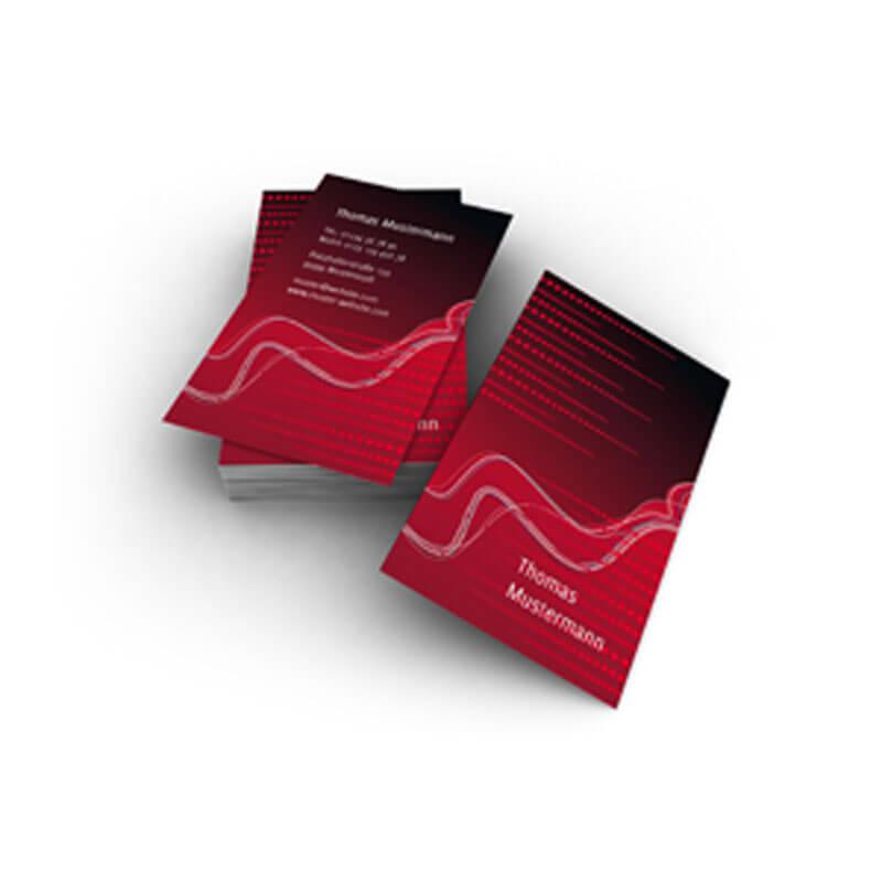 Kreative Visitenkarten In Warmen Rottönen Für Private Zwecke