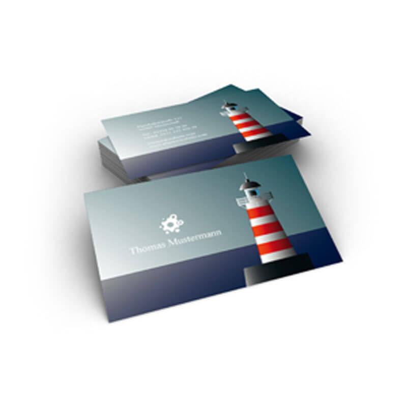 Visitenkarte Mit Meer Und Leuchtturm Online Gestalten