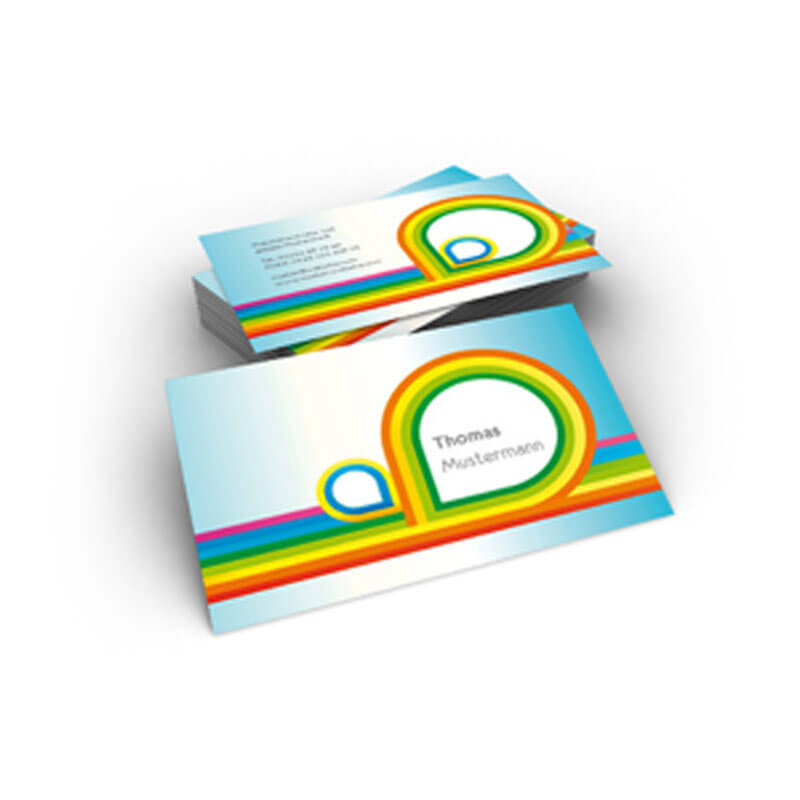 Visitenkarten Bunt Mit Regenbogenfarben Für Privat Online