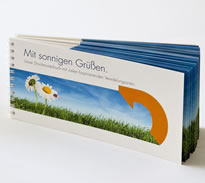 Druckmusterbuch mit allen Papiersorten