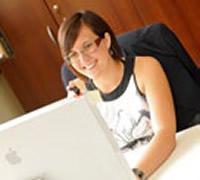 Online-Druck.biz Mitarbeiterin Christine Sirch