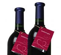 Flaschenanhänger für Weinflaschen