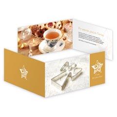 Weihnachtskarten in Sonderfarbe Gold