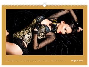 Fotokalender mit Sonderfarbe Gold