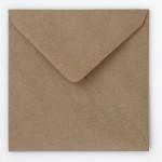Briefumschlag Braun Quadrat Rückansicht