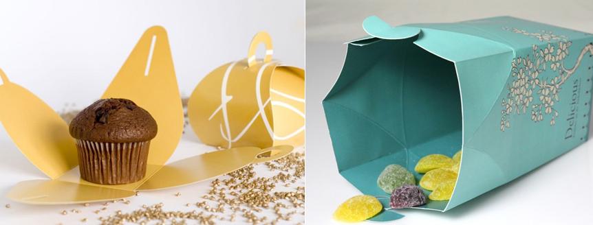 kleine Papier-Verpackungen für Geschenke