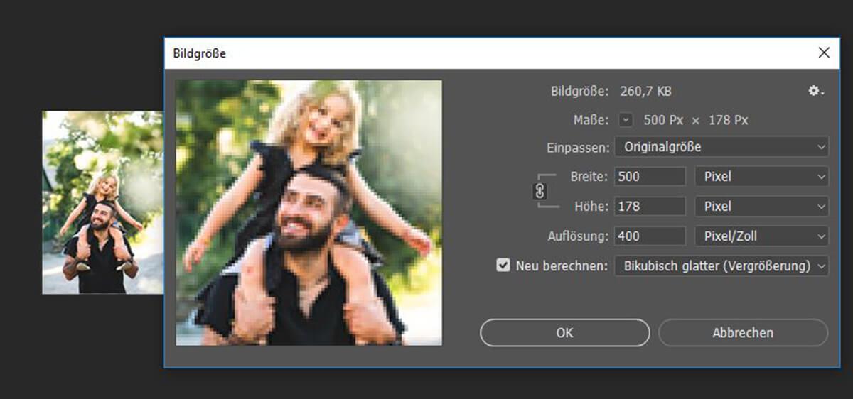 Die Auflösung in Photoshop richtig einstellen