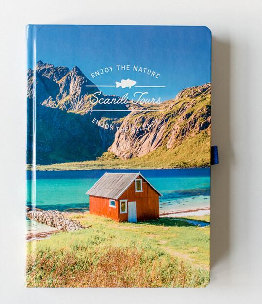 Hardcover-Notizbuch mit runden Ecken online drucken