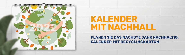 Kalender mit Nachhall - Planen Sie das nächste Jahr nachhaltig. Kalender mit Recyclingkarton